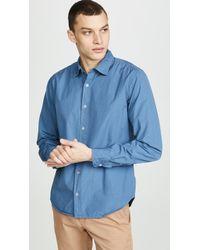Save Khaki Poplin Easy Shirt - Blue