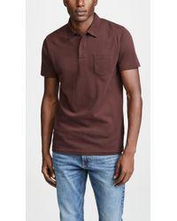 Sunspel - Short Sleeve Riviera Polo Shirt - Lyst