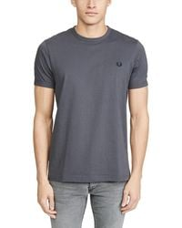 Fred Perry Ringer T-shirt - Grey