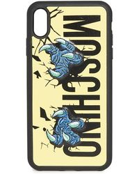 Moschino Logo Claws Xs Max Iphone Case - Multicolour