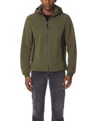 Woolrich - Soft Shell Hooded Jacket - Lyst