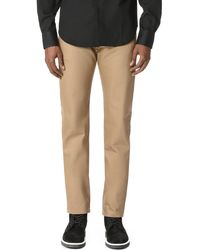 Naked & Famous Weird Guy - Beige Selvedge Chino Jeans - Natural