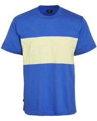 Obey Short Sleeve Buddy Tee Shirt - Blue