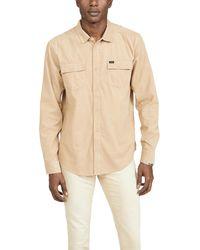 RVCA Freeman Corduroy Long Sleeve Shirt - Natural