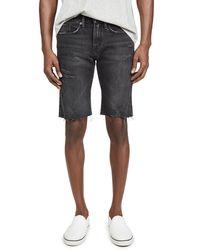 FRAME L'homme Cut Off Shorts - Black