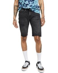 FRAME L'homme Cut Off Shorts - Black