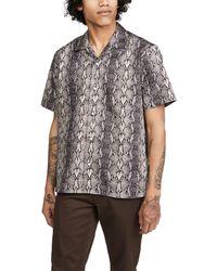 Gitman Brothers Vintage Snakeskin Camp Collar Shirt - Black