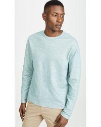 Vince Double Knit Crew Neck Shirt - Blue