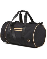 Fred Perry Twin Tipped Barrel Bag - Black