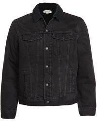 Madewell Sherpa Lined Denim Jacket - Black