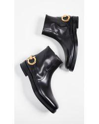 Ferragamo - Gancini Ankle Boot - Lyst