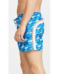 Sundek Printed Nylon Swim Shorts - Blue