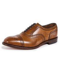 Allen Edmonds Strand Brogue Shoes - Brown
