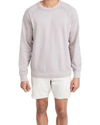 Save Khaki Supima Crew Neck Sweatshirt - Grey