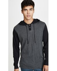 RVCA Pickup Two Button Pullover Hoodie - Black
