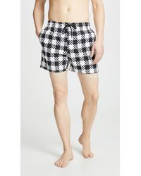 Solid & Striped The Classic Gingham Swim Trunks - Black