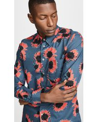 PS by Paul Smith - Long Sleeve Tailored Fit Shirt - Lyst