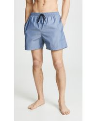 Solid & Striped The Classic Chambray Trunks - Blue