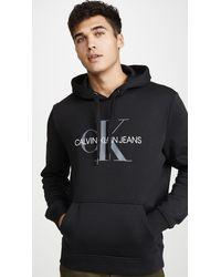 Calvin Klein Graphic Cotton-blend Hoodie - Black