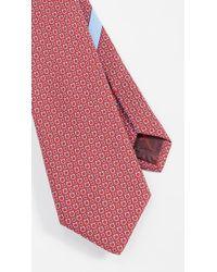 Ferragamo Gancio Print Tie - Red