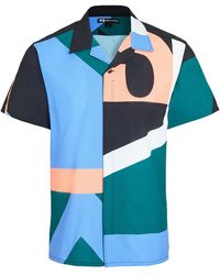 Y-3 Multi Colour Yohji Camp Shirt - Blue