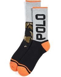 Polo Ralph Lauren Limited Edition: Terrain Camo Colorblock Crew Socks - Black