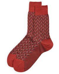 Falke Capital Rhythm Crew Socks - Red