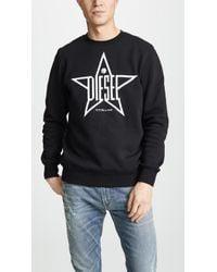 DIESEL - Star-print Sweatshirt - Lyst