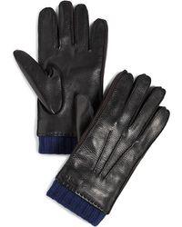 Paul Smith Deerskin Gloves - Black