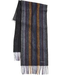 PS by Paul Smith Collage Stripe Scarf - Gray