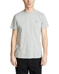 Maison Kitsuné Fox Head Patch T-shirt - Gray