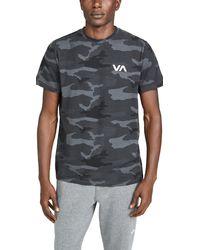 RVCA Va Sport Vent Short Sleeve Tee - Grey