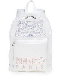 KENZO Kampus See Through Backpack - White