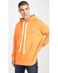 Maison Kitsuné Long Sleeve Oversized Hoodie - Orange