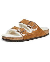 Birkenstock Arizona Shearling (mink Suede) Shoes - Multicolour