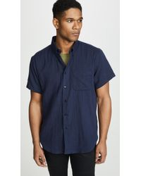 Naked & Famous - Double Weave Gauze Easy Shirt - Lyst