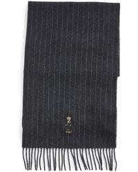 Polo Ralph Lauren Chalk Stripe Holiday Bear Scarf - Grey