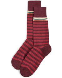Paul Smith Two Stripe Socks - Red