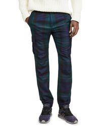 Paul Smith Plaid Combat Pants - Blue
