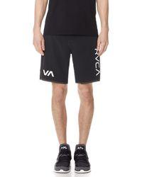 RVCA - Staff Ii Dual Layer Shorts - Lyst