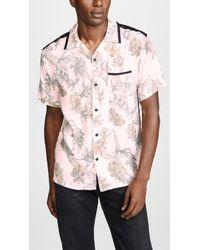 COACH Printed Short Sleeve Shirt - Pink