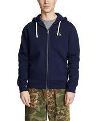 Polo Ralph Lauren Classic Fleece Full Zip Hoodie - Blue