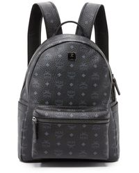 MCM Stark Medium Backpack - Black