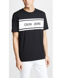 Calvin Klein - Calvin Jeans Stripe Tee - Lyst