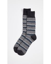 Anonymous Ism - Zigzag Links Crew Socks - Lyst