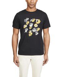 Saturdays NYC Daisy Logo-print Cotton T-shirt - Black