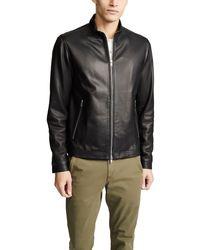 Theory Morvek Lkelleher Leather Jacket - Black