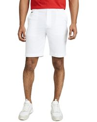 Lacoste Sport Golf Bermuda Shorts With Croc Logo - White