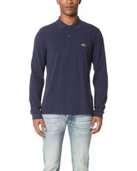 Lacoste - Long Sleeve Classic Pique Polo - Lyst