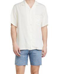 Portuguese Flannel Dogtown Short Sleeve Shirt - White
